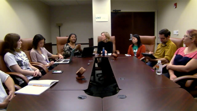 Santosh Basapur's Students (on Right) Presenting to UNT Group (on Left) via Videoconference