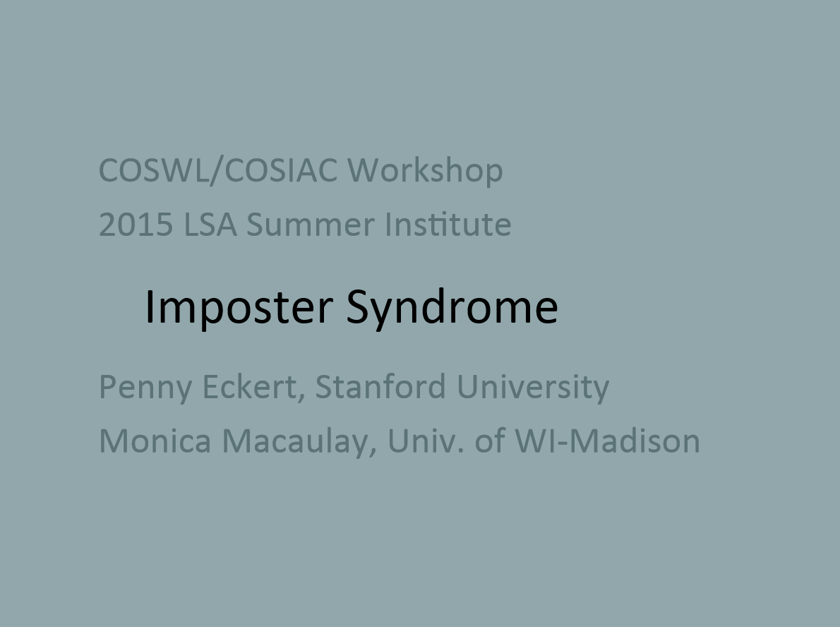 Impostor Syndrome title slide