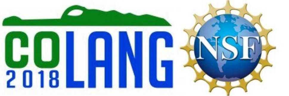 CoLang 2018 Registration Deadline Extended through April 1